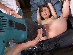 Horny adult movie star Aiko Hirose in best fake penises/toys, fetish xxx scene