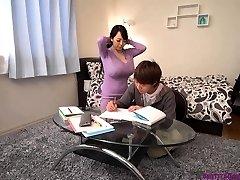 Busty asian teacher huge tits
