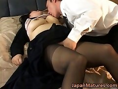 Japanese mature chick has hot romp