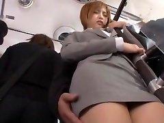 Crazy Japanese girl Yu Namiki in Amazing Bus, Secretary JAV movie