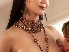 Asian harem lesbian group fuckfest