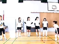 Subtitled Japanese ENF CFNF volleyball hazing in HD