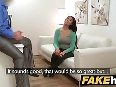 Fake Agent Enormous globes Asian wants hard drill on the casting couch