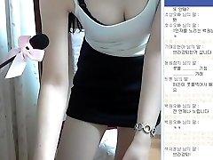 O coreano menina super bonito e perfeito corpo de mostrar a Webcam, Vol.01
