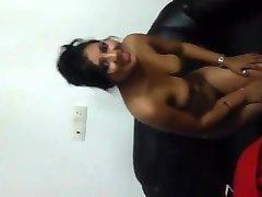Indisk Flicka Blinkande titties