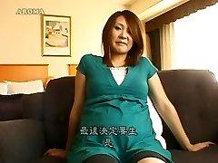 incrível modelo japonês de tesão grávida, peludo jav filme