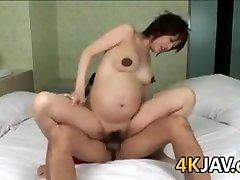 Grávida Japonês De Beleza