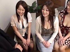 Japonesa AV Modelos maduro gostoso com pintos no CFNM grupo de ação