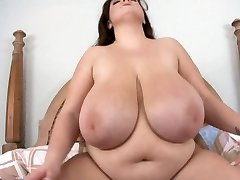 White Bluse Huge BBW Gigantic Tits Poked from BBC
