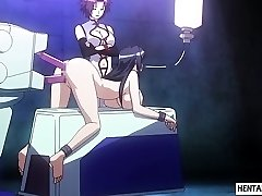 Tied up manga porn babe gets pussy and ass played rough