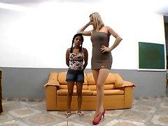 Brazilian severe stomping foot domination