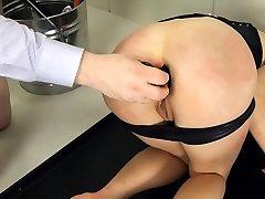 Extreme BDSM toilet mega-slut poked anally hard