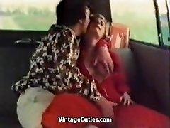 Kinky Female Fingered in a Car