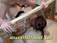 Chinese Sweety Sodomised In Stocking And Stocks