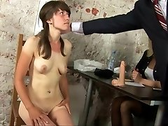 Kinky naked conversation for young secretary