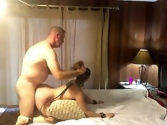 Hot submissive MILF getting pounded and smacked