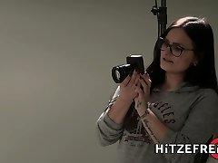 HITZEFREI Busty German slut loves big ebony cock