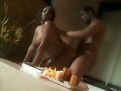 Obese ebony lady Jada Fire romantic sex vignette in Jacuzzi