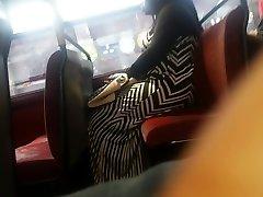 Yam-sized Booty Zebra Dress Candid Pt 2.
