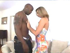 Young blonde white wife cheats on husband with black man