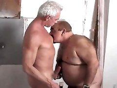 Meeting a Torrid Chub Grandpa Late in the Shower.