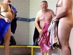 3 daddies in locker room