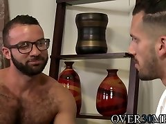 Horny boyfriends have passionate anal bang-out after a lengthy time