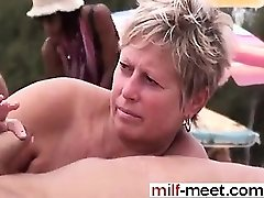 Swingers at the Nudist Beach - Vag from Milf-MEET.COM