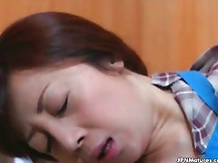 awesome Asian mature fucked by husband