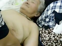 80yr old Japanese Grandmother Still gets Creamed (Uncensored)