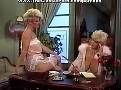 Cock worshipped by retro big-titted girl