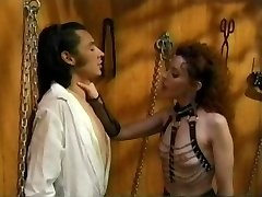 Vintage Femdom Olivia Outre with Male Marionette