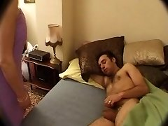 French Mom wakes up NOT her sonnie with Dt
