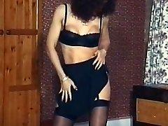 Vintage zrelé pančuchy tanec, striptíz