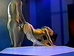 Fabulous homemade Vintage, Arab hard-core video