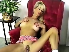 Steamy Busty Blonde Striptease and Fingering 2016