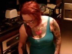 Classic alternative misti dawn kitchen harassment