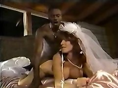 White Bride Ebony Cock
