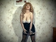 THE SKIN TRADE - antique 80's big tits blonde undress dance