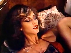 Retro Classical - Lady in Satin Lingerie Pleasing Herself
