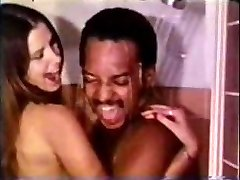 Vintage Interracial Duo Shower Sex