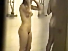 Classical hidden college shower gauze with hot girls - enhanced quality & slowmo