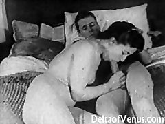 Authentic Vintage Porn 1950s - Shaved Muff, Voyeur Fuck