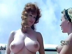 Vintage nudistické tábor scéna