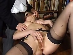 ITALIAN PORN ass-fuck hairy babes threesome antique