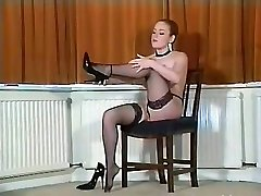 Sexy Brit busty pantyhose teaser