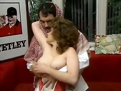 Chubby dark haired assistant gets laid with cocky Arab guy