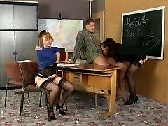 History Schoolteacher Instructs Her College Girls On Sex