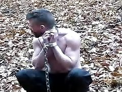 The Gauntlet Part 2 - Muscled officer in bondage