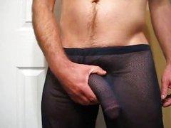 Big Cock Sheer Pants Cum
